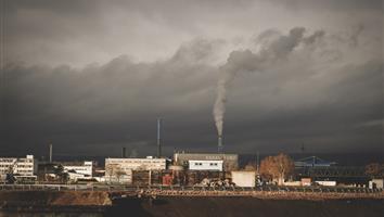 Croquis  d'un paysage industriel